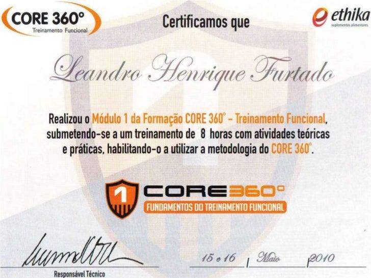 Certificação método Core 360º treinamento funcional