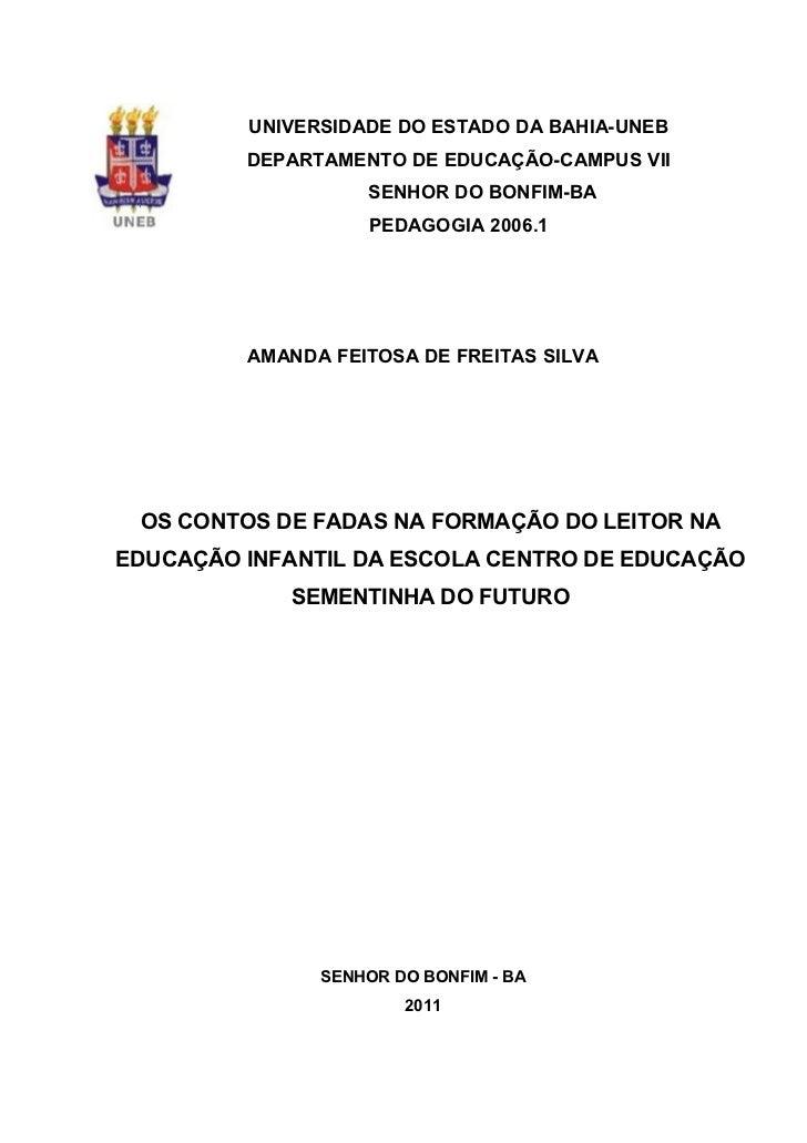 UNIVERSIDADE DO ESTADO DA BAHIA-UNEB         DEPARTAMENTO DE EDUCAÇÃO-CAMPUS VII                   SENHOR DO BONFIM-BA    ...