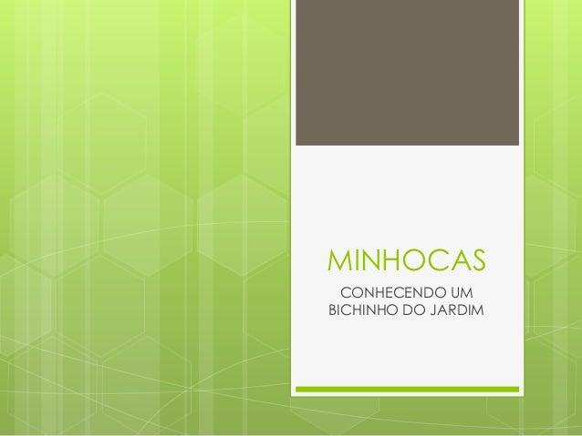 MINHOCAS CONHECENDO UM BICHINHO DO JARDIM
