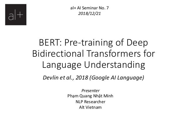 BERT: Pre-training of Deep Bidirectional Transformers for Language Un…