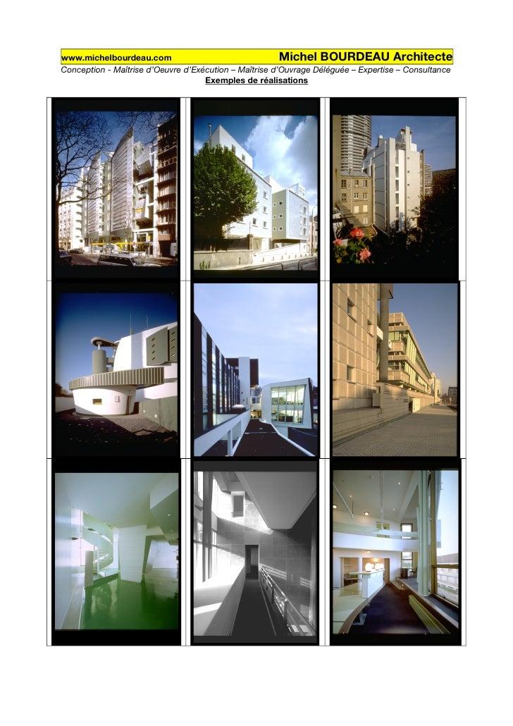 www.michelbourdeau.com                                  Michel BOURDEAU Architecte Conception - Maîtrise d'Oeuvre d'Exécut...