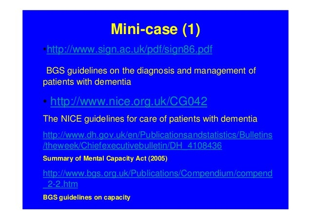 management of dementia nice guidelines