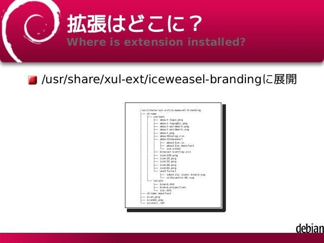 DebianでFirefoxをカスタマイズするには