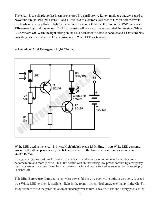 mini emergency light rh slideshare net