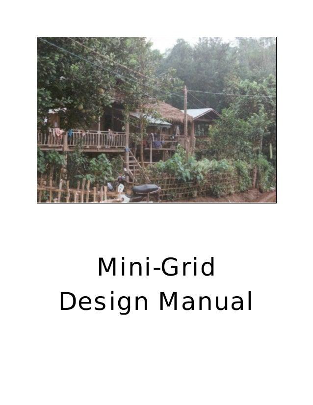 Mini-Grid Design Manual