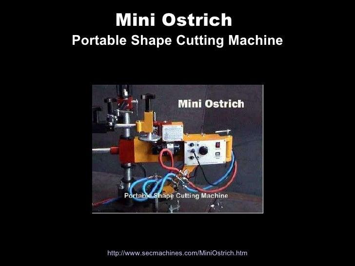 Mini Ostrich   Portable Shape Cutting Machine http://www. secmachines .com/ MiniOstrich . htm