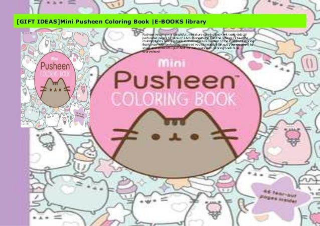GIFT IDEAS]Mini Pusheen Coloring Book |E-BOOKS Library