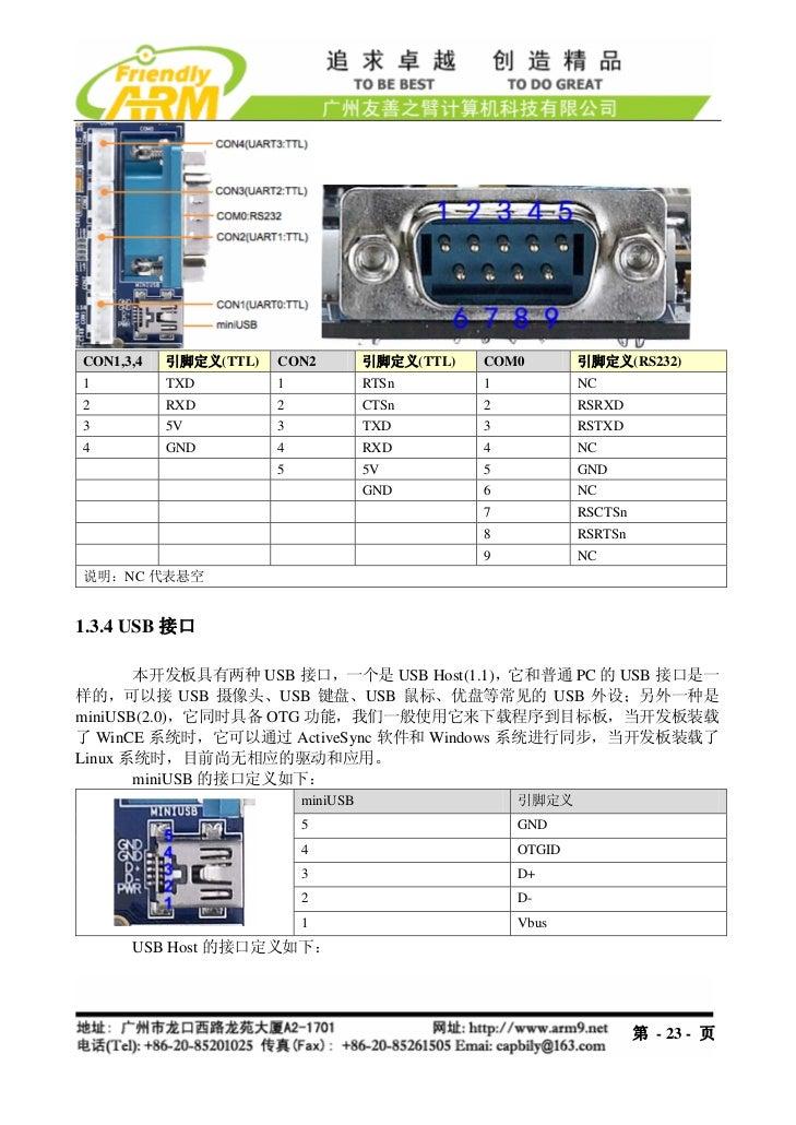 CON1,3,4   引脚定义(TTL)   CON2          引脚定义(TTL)   COM0        引脚定义(RS232)1          TXD         1             RTSn        1...