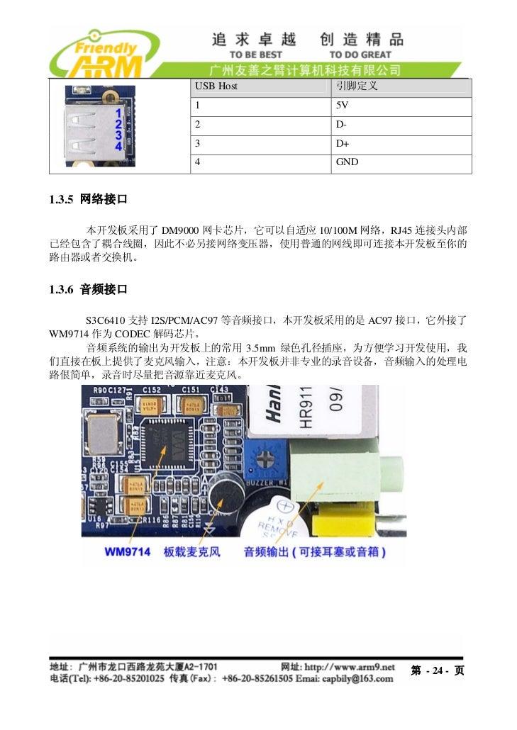 USB Host           引脚定义                   1                  5V                   2                  D-                   ...