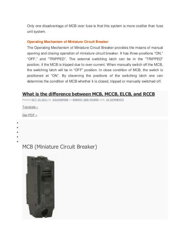 selection of circuit breaker pdf