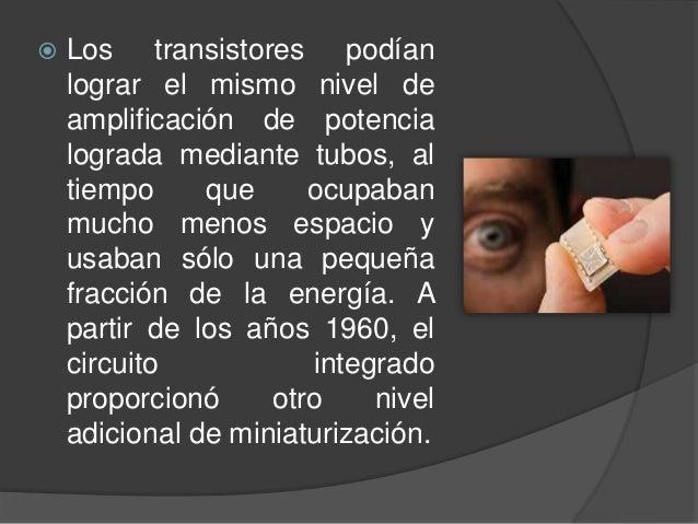 Circuito Integrado De Dimensiones Muy Pequeñas : Miniaturizacion