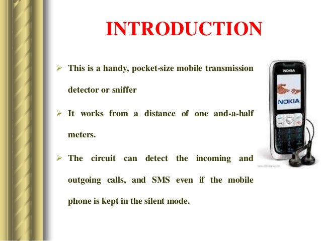 Mini Project On Cellphone Detector