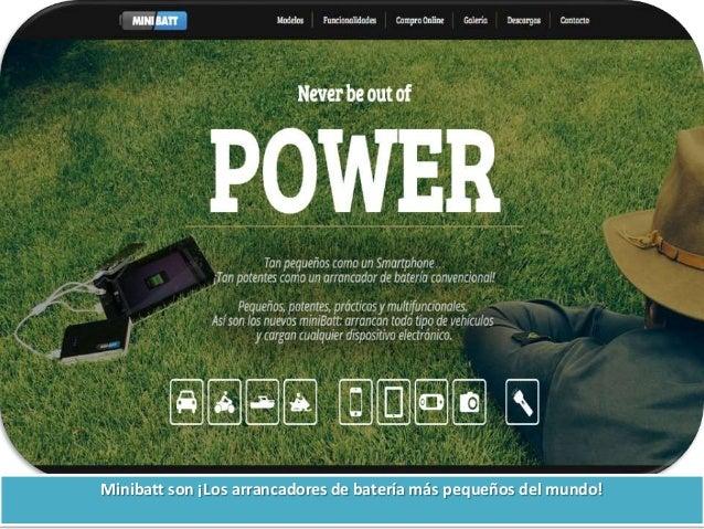 Minibatt son ¡Los arrancadores de batería más pequeños del mundo!
