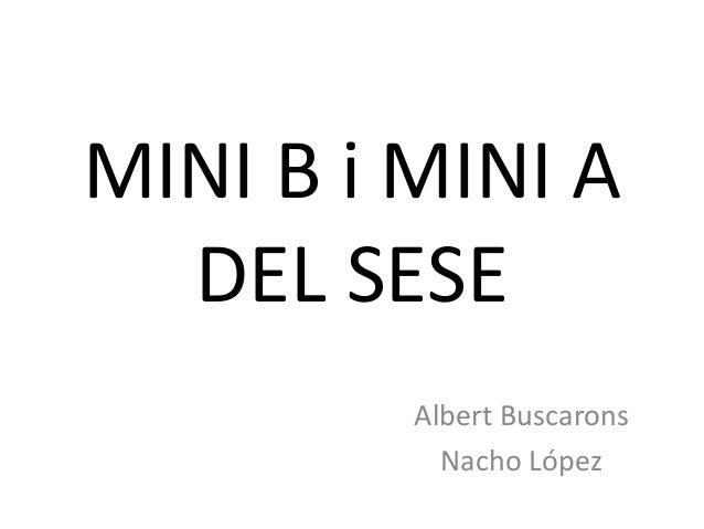 MINI B i MINI A DEL SESE Albert Buscarons Nacho López
