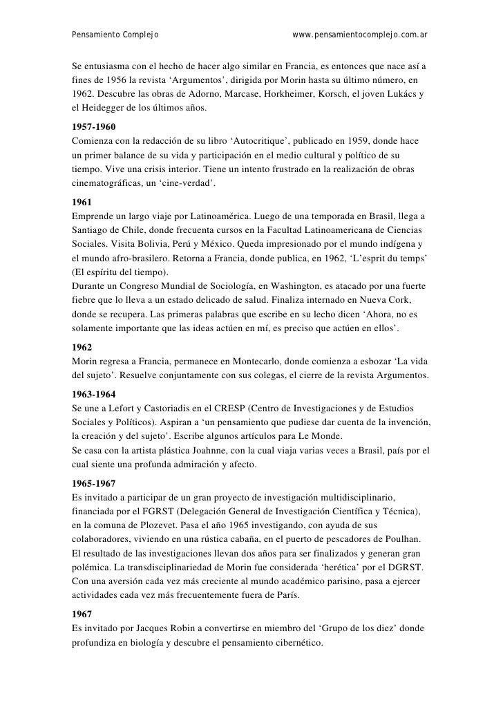 Pensamiento Complejo                                     www.pensamientocomplejo.com.arSe entusiasma con el hecho de hacer...