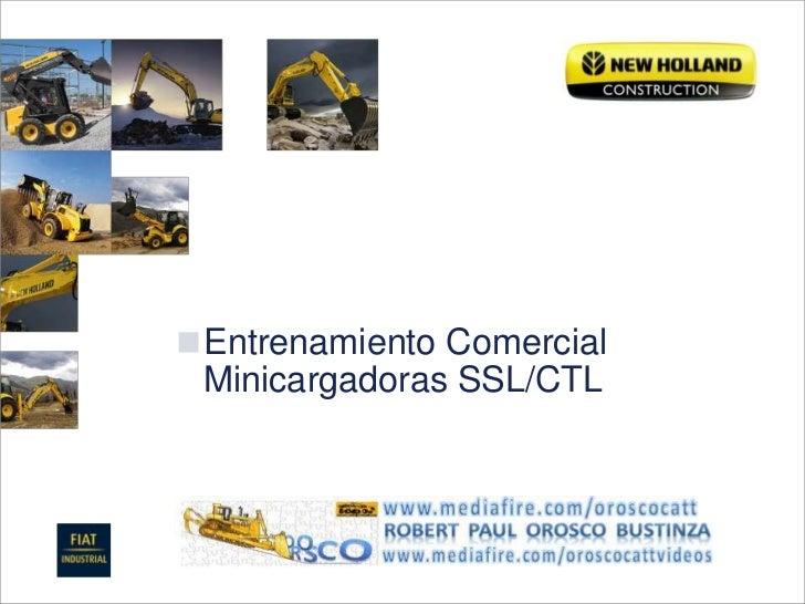 Entrenamiento ComercialMinicargadoras SSL/CTL