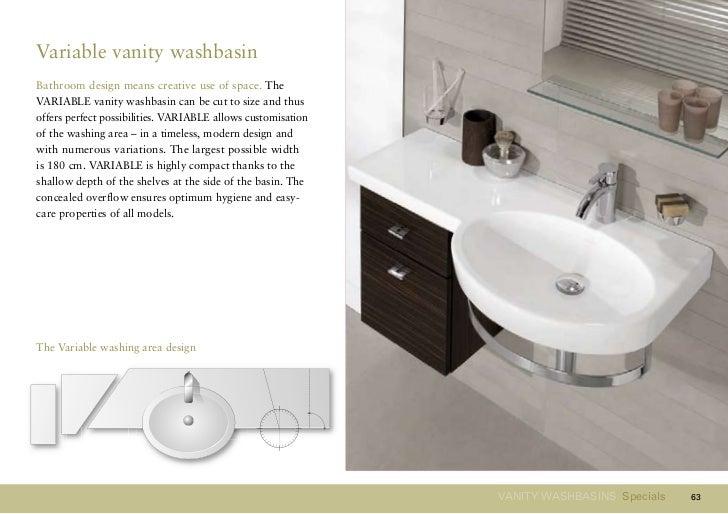 62; 63. Variable Vanity WashbasinBathroom ...