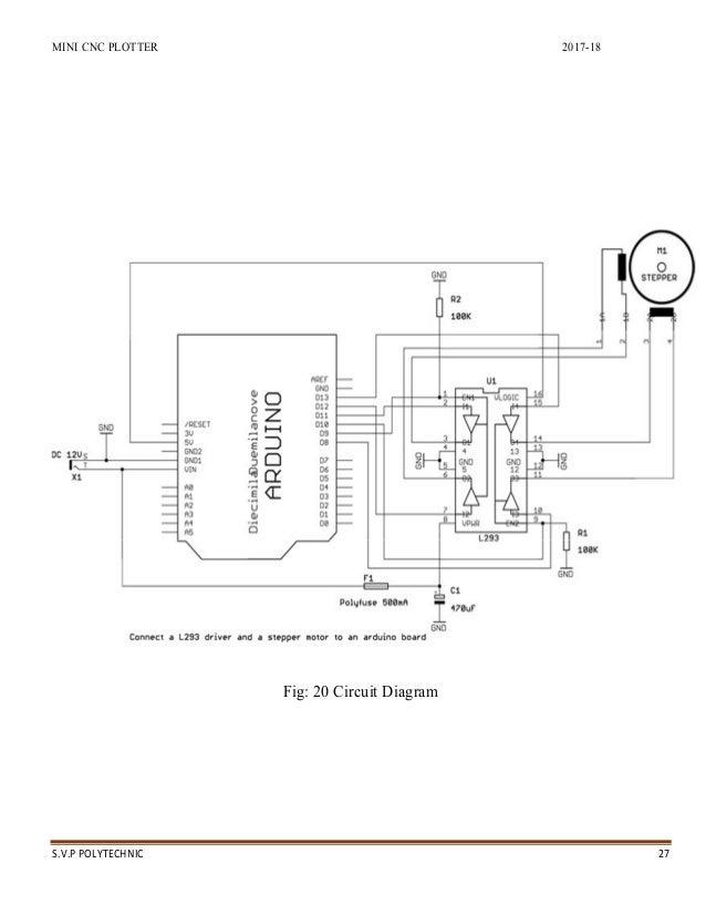 Mini cnc plotter or printer