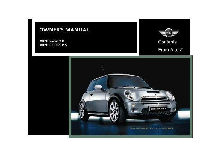 mini cooper owners manual 2002 rh slideshare net 2002 mini cooper s owners manual pdf 2002 Mini Cooper Service Manual