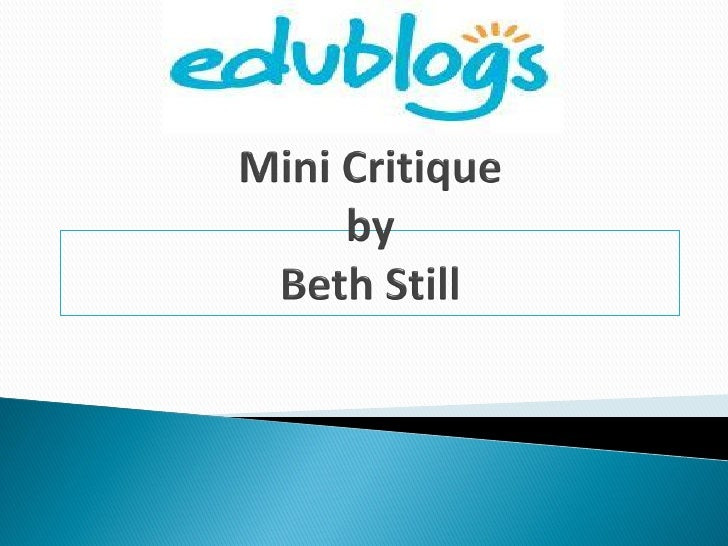 What's Missing?  Edublogs has a  presence on    Twitter.