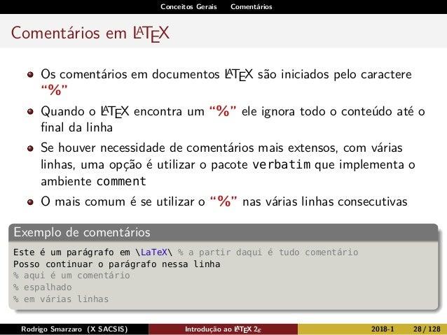 Minicurso - Introdução ao LaTeX