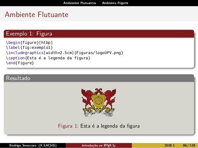 Ambientes Flutuantes Ambiente Figure Ambiente Flutuante Exemplo 1: Figura begin{figure}[htbp] label{fig:exemplo1} includeg...