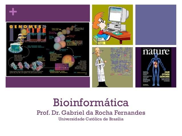 + Bioinformática Prof. Dr. Gabriel da Rocha Fernandes Universidade Católica de Brasília