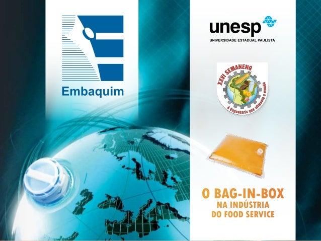 O BAG-IN-BOX  NA INDÚSTRIA DO FOOD SERVICE