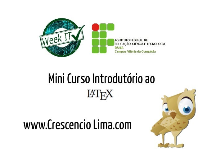 www.Crescencio Lima.comMini Curso Introdutório ao