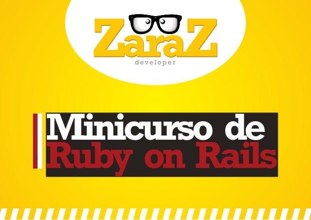 Minicurso de Ruby on Rails