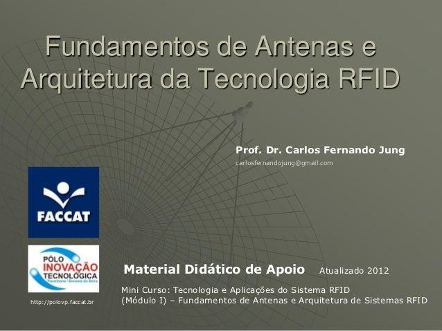 Fundamentos de Antenas eArquitetura da Tecnologia RFID                                                  Prof. Dr. Carlos F...