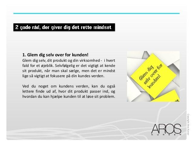 AROS KURSER: Mini e bog, kom godt i gang med dit salg! Slide 3