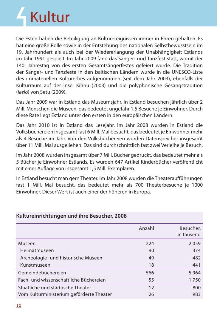 MINIFAKTEN ÜBER ESTLAND 2010    Anteil der Bevölkerung in der Europäischen Union, die während der letzten 12 Monate mindes...