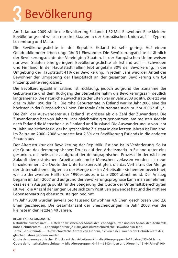 MINIFAKTEN ÜBER ESTLAND 2010     Rohe Geburtenziffer in der Europäischen Union, 2008                                Irland...