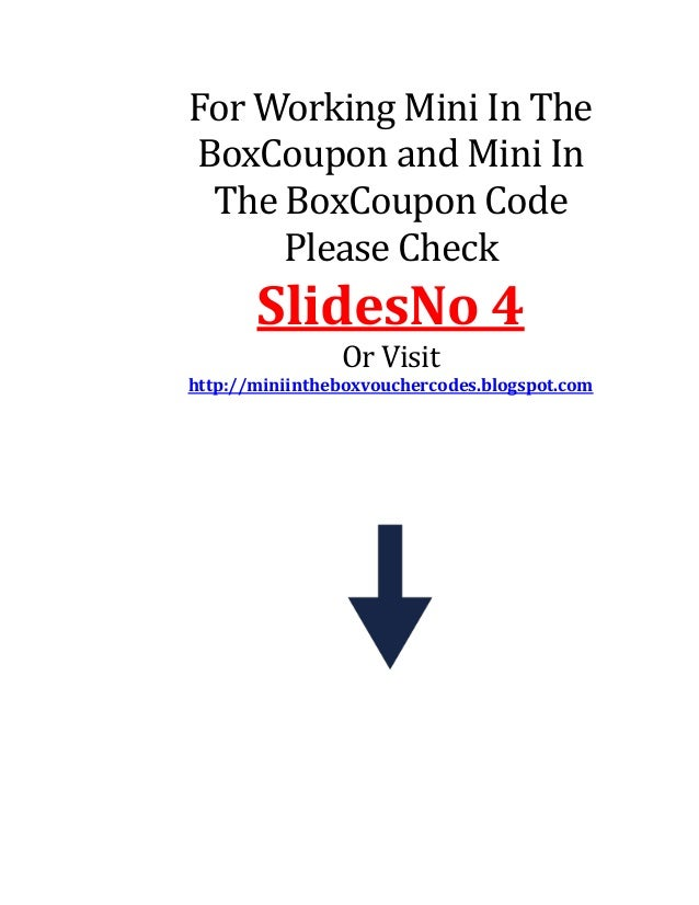 Mini in the box coupons & promo codes