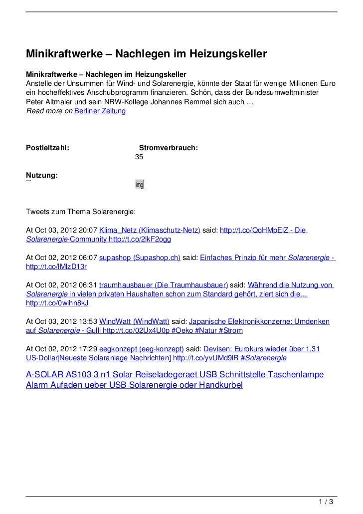 Minikraftwerke – Nachlegen im HeizungskellerMinikraftwerke – Nachlegen im HeizungskellerAnstelle der Unsummen für Wind- un...