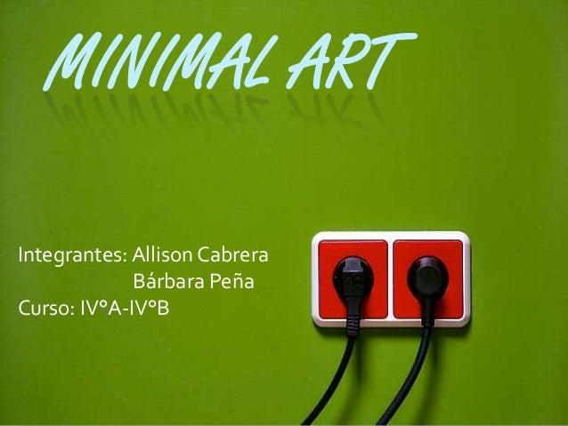 Minimal art for Minimal art slideshare