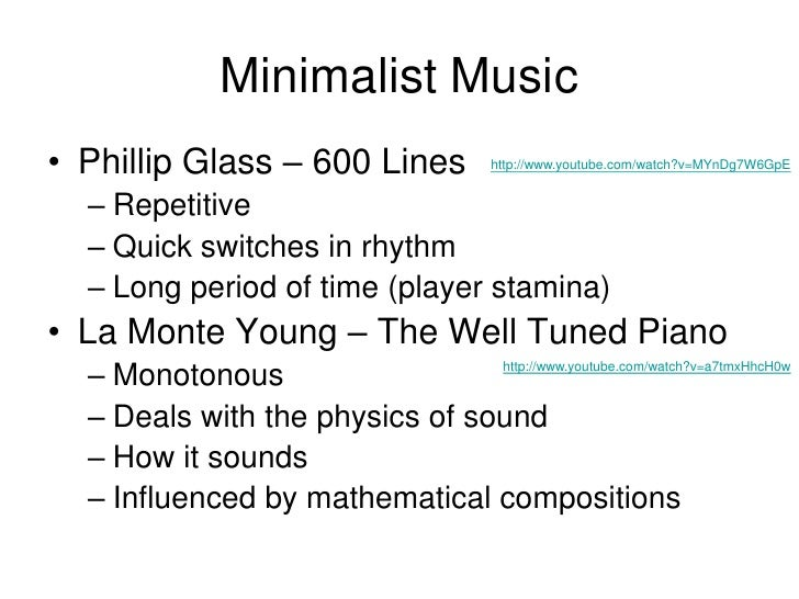 Minimalist Classroom Music : Minimalism