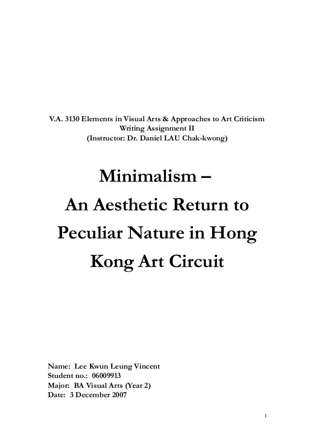 Minimalism an aesthetic return to peculiar nature in for Minimal art slideshare