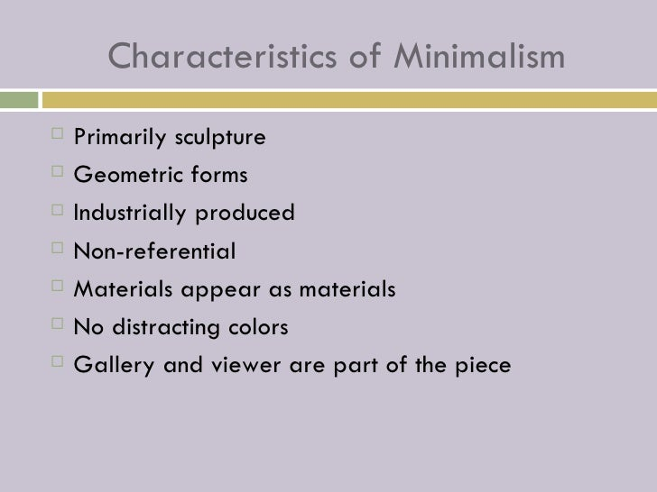 Minimalism 4th hour for Minimalist art characteristics