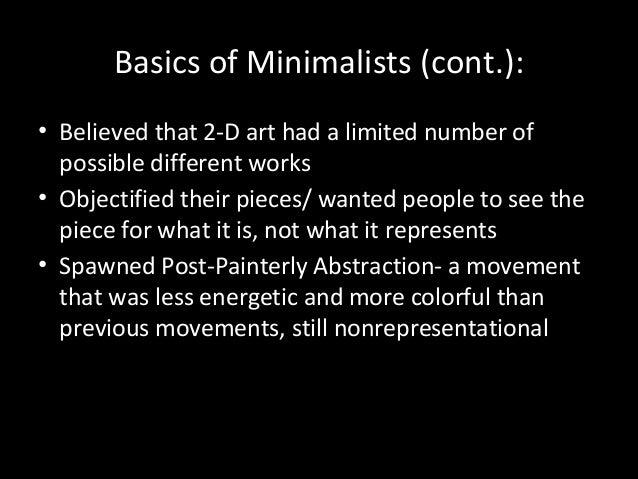 Minimalism powerpoint for Minimal art slideshare
