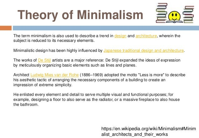 Minimalism ppt for Minimalist architecture theory