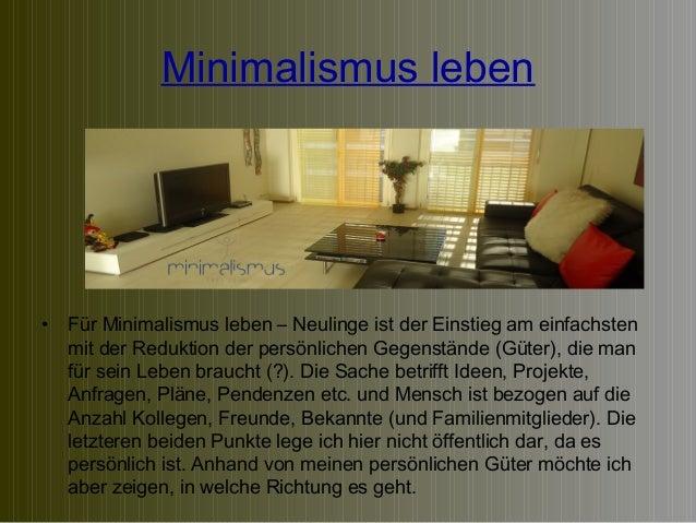 Minimalismus leben schritt f r schritt ans ziel for Leben als minimalist