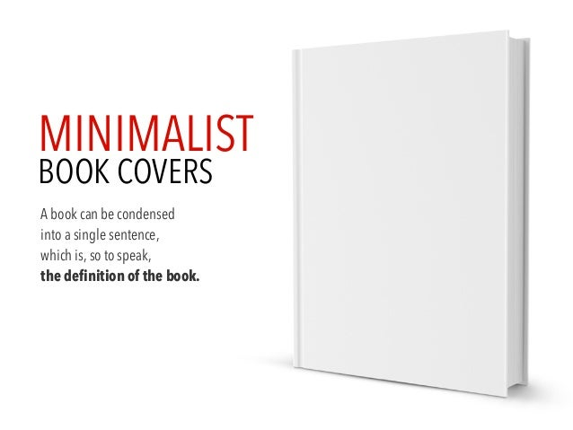 Minimalist Book Cover : Minimalist book cover
