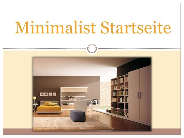 Minimalist Startseite