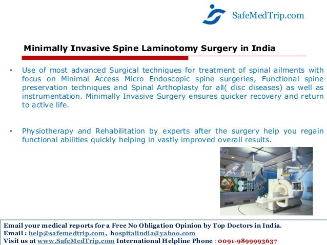 Comprehensive Spine Surgery And Treatment At World Class