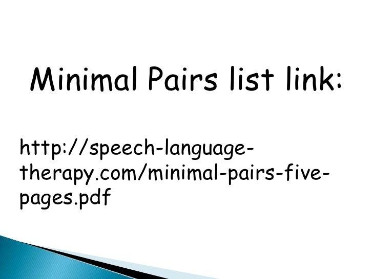 minimal pairs pdf