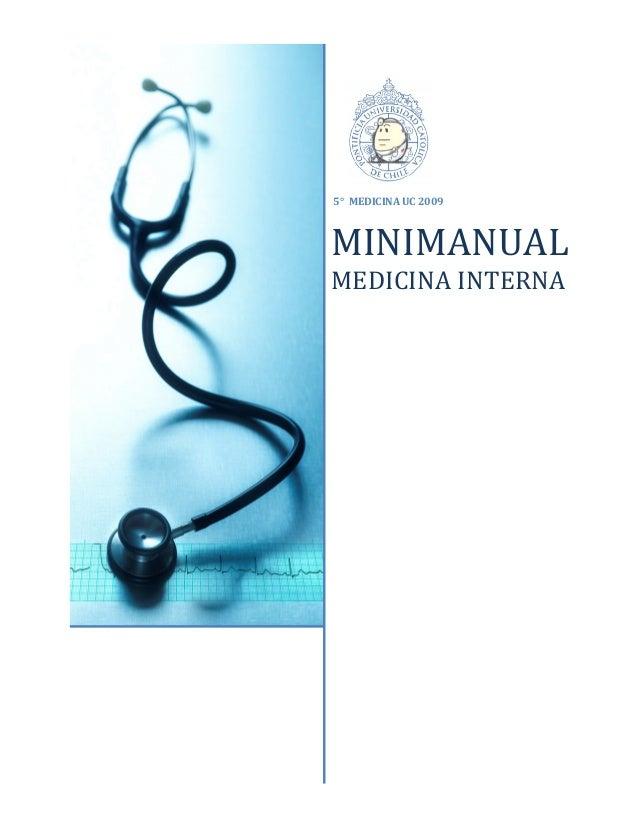 5° MEDICINA UC 2009 MINIMANUAL MEDICINA INTERNA