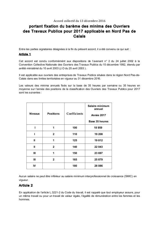 Minima batiment ouvrier 2016 minima salaires ouvriers pour 2017 nord pas de calais - Grille salaire contrat d apprentissage ...