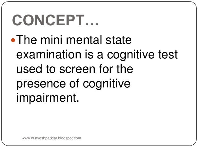 Mini Mental Status Examination